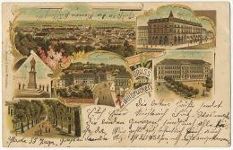Gruss Aus Zweibrucken Litho Ottmar Zieher Used 1905 Bayern Stamp To Bolchen - Zweibruecken
