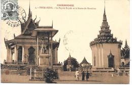 CAMBODGE - PNOM PENH - La Pagode Royale Et La Statue De Norodom