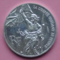 """Pièce De 100 Francs 1993 """" Le Louvre """" - Argent 900/1000 - N. 100 Francos"""