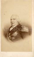 Photo-carte De Visite / CDV / Roi Louis XVIII De France / King Louis XVIII Of France - Célébrités
