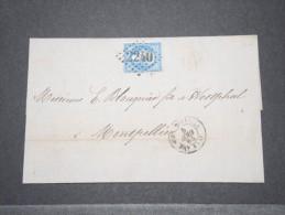 FRANCE - ALGERIE - Env De Philippeville Pour Montpellier - Bateau à Vapeur - Août 1864 - A Voir - P16873 - Algérie (1924-1962)