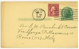 STORIA POSTALE - AMERICA - UNITED STATES POSTAGE - ANNO 1938 - JOLIET - PER ROMA - - America Centrale