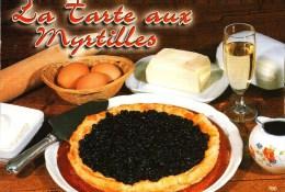 CP  - Les Editions EDY    17008/0   -   La TARTE AUX MYRTILLES - Recipes (cooking)