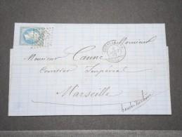 FRANCE - ALGERIE - Lettre De Constantine Pour Marseille - Août 1867 - P16875 - Algérie (1924-1962)