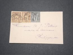 FRANCE - ALGERIE - Jolie Petite Env De Philippeville En Local Avec Composition De Sage - Pas Courant - Janv 1902 P16876 - Algérie (1924-1962)