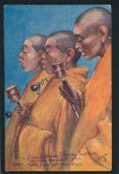 ASIE - TIBET - Yellow Lamas With Prayer Wheels - OILETTE - RAPHAEL TUCK & SONS - Tibet