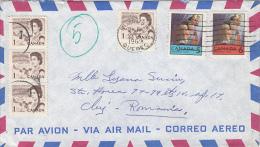 QUEEN ELISABETH 2ND, DOG TEAM, CHRISTMAS, STAMPS ON COVER, 1948, CANADA - 1952-.... Règne D'Elizabeth II