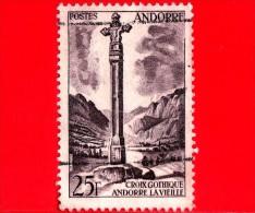 ANDORRA  - Usato - 1955 - Paesaggi - Croce Gotica - Andorre  La Vieille - 25