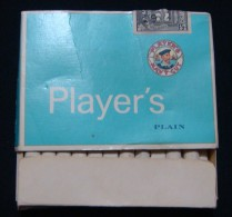 CANADA *PLAYER'S* OPENED HARD PACK WITH FISCAL REVENUE STAMP. - Tabac (objets Liés)