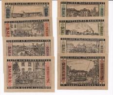 Trasporti - Tram - Otto Biglietti Fior Di Stampa Prima Carrozza A Berlino 1899 Autentici Con Bollo A Secco - Railway