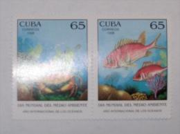 CUBA     1998   LOT# 59  FISH, PAIR - Cuba