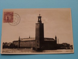 Stockholm Stadshuset ( 10825 ) Anno 1936 ( Zie Foto Details ) !! - Suède