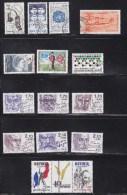 FRANCE 1985  à 1988      OBLITERES  A 15% DU PRIX  CATALOGUE  YVERT - Collections (sans Albums)