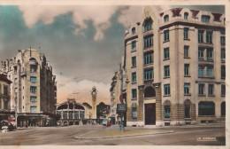 Rouen Hotel Des Postes Et La Gare Colorisee Peu Courante - Rouen
