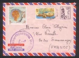 Lettre D'Egypte Pour La France (90 Sermamagny) - Presidential Nile Cruise 1987 - Poste Aérienne