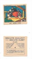 8775 - Chromo Biscuits OLIBET-GUILLOUT-  Série Les Transports : AVION, PAQUEBOT,AUTOMOBILE,CHEMIN DE FER - Cromo