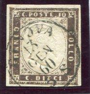 1860- SARDEGNA-10 C.USED -LUXE !! - Sardegna