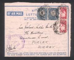 Lettre D ´ Afrique Du Sud Pour Purley - Surrey - England - Storia Postale