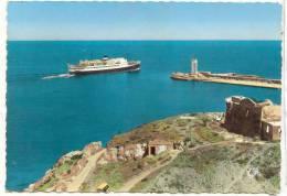 16127  Port Vendres Départ Du Paquebot Courrier D´Algérie Passage Du Phare . CAP 1835 Cpsm Colorisée - Port Vendres