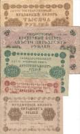 1917/1918 - RUSSLAND, 5 BANKNOTEN, Gute Zustand, 5 Scan - Russia