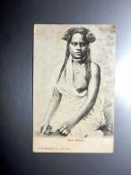 Carte Postale Ancienne : FIDJI, FIJI : Fijian Maiden, Girl, Seins Nus, Nude - Fiji