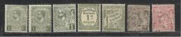 Monaco  1901-1922 > 2 Unused Stamps+4 MLH* +1 UNG        Lot - Monaco