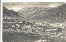 C P A  -   OLLIOULES    Les Bugadieres Sur La Reppe Route Des Gorges - Ollioules