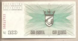 Bosnia Erzegovina - Banconota Circolata Da 100 Dinari - 1992 - Bosnia Erzegovina