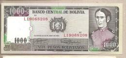 Bolivia - Banconota Non Circolata Da 1000 Pesos - 1982 - Bolivia