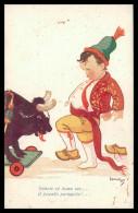 PORTUGAL -ILUSTRADORES - Leonel 939 - Forcado (Ed.Costumes Portugueses Nº 7 ) Carte Postale - Otros Ilustradores