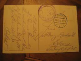 Jablonna 1916 Warszawa Militar Cancel Feldpost WW1 On Post Card Poland - Covers & Documents