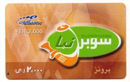 YEMEN Prepayé SABAFON SUPER NABA - Yémen