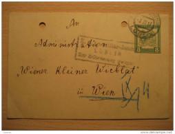 Lublin ( Chelm Writed Reverse Near Ukraine ) 1917 To Wien Bohemia Bohmen K U K Feldpost Poster Stationery Poland Polska - Covers & Documents