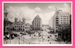 Carte Photo - Recife - Praça Da Independencia - Matriz S. Antonio - Vieilles Voitures - Cars - Animée - Studio EDSON - Recife