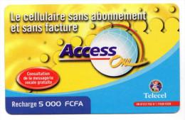 COTE D'IVOIRE Prepayé TELECEL LOTENY TELECOM - Côte D'Ivoire