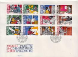 Liechtenstein Set On FDC - Jobs