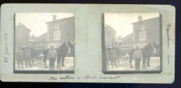 Photo Stéréo Janvier 1917 Recto Verso Vaucouleurs Meuse -- Ma Voiture D' Officier Acheteur      FEV16 25 - Photos Stéréoscopiques