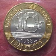 Ve REPUBLIQUE   ESSAI DE LA PIECE DE  10 Francs Génie 1988 Rare  Pochette Origine - Francia