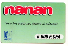 BURKINA FASO Prepayé ONATEL NANAN - Burkina Faso