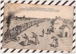 U113 LEGENDE DE SAINT SAULGE LE TACOT 1924 TRAIN 2 SCANS - France