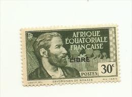 103   Timbre Surchargé  Charniere    (818) - A.E.F. (1936-1958)
