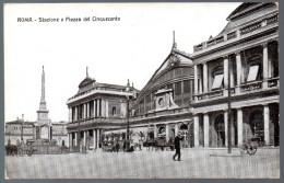 1470 - Senza Spese Di Spedizione - Cartolina Antiche - Rom Roma Stazione Piazza Del Cinquecento - Transportes