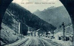 France Modane - Entree Du Tunnel Du Mont Cenis, Railroad...  2 Scan - Modane