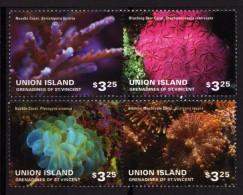 ST VINCENT (Union Island) 2014 - Faune Marine, Coraux - 4 Val Neufs // Mnh - St.Vincent & Grenadines