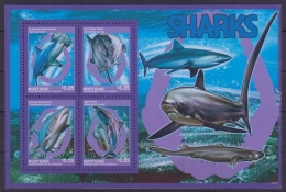 ST VINCENT (Mustique Island) 2014 - Faune Marine, Requins - BF De 4 Val Neufs // Mnh - St.Vincent & Grenadines