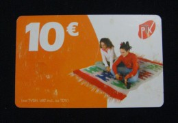 MEGA RARE KOSOVO 10 EURO CHIP CARD, PTK ND 2011, USED QUALITY. 1 TYPE. LESS THEN 10 EXAMPLES KNOWN. - Kosovo