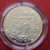 Ve REPUBLIQUE ESSAI  De La  100 Francs Libération De Paris  - 1994 Argent  Silver FDC Capsule - Francia