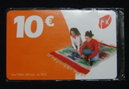MEGA RARE KOSOVO 10 EURO CHIP CARD, PTK ND 2011, SEALED NOT OPENED 10 EURO CREDIT MINT QUALITY. LESS THEN 10 EXAMPLES KN - Kosovo