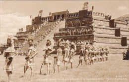 Mexico Teotihuacan Native Indians In Local Dress Real Photo