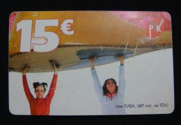 MEGA RARE KOSOVO 15 EURO CHIP CARD, PTK ND 2011, LITTLE BENT AT CHIP. LESS THEN 5 EXAMPLES KNOWN. - Kosovo